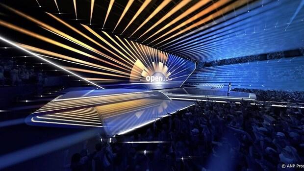 Decor Eurovisiesongfestival bevat semi-transparant LED-scherm