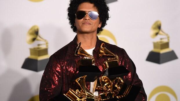 Bruno Mars grote winnaar Grammy Awards