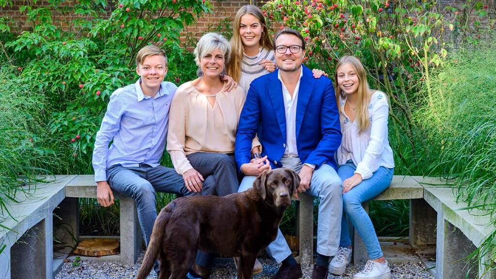 Het gezin van prins Constantijn en prinses Laurentien.