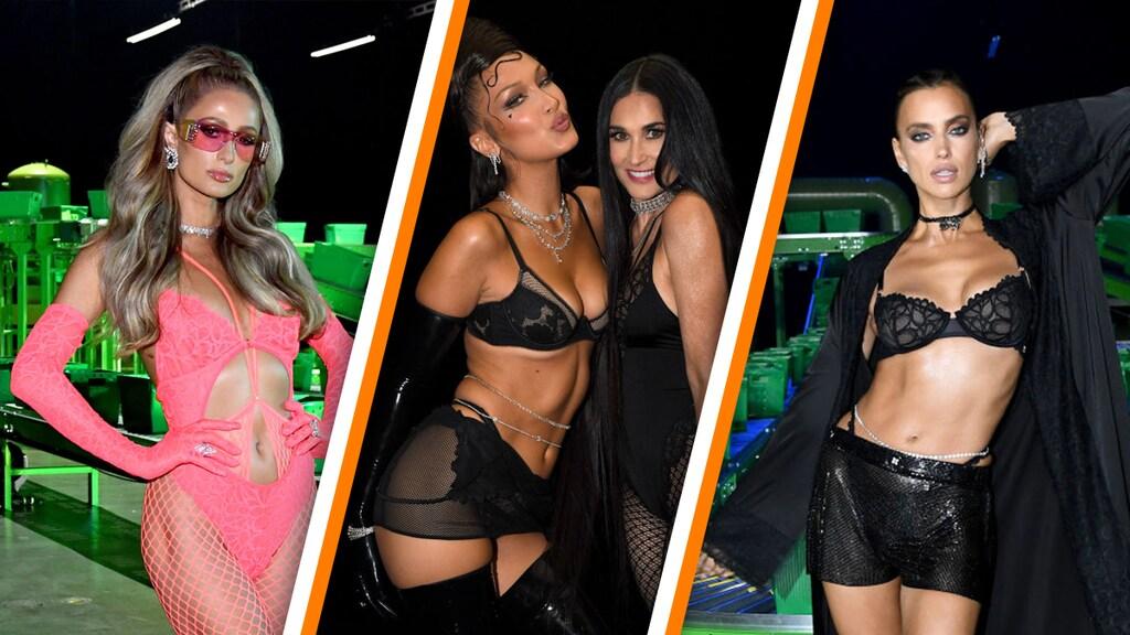 Paris Hilton, Bella Hadid, Demi Moore en Irina Shayk