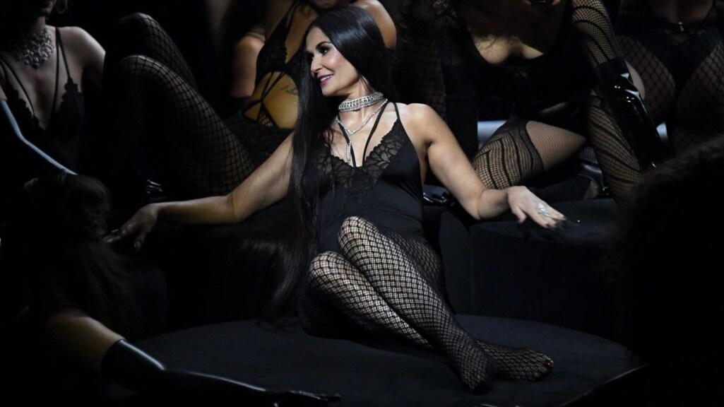 Demi Moore in de 'Savage X'-lingerieshow