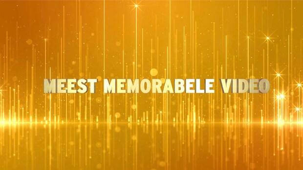 De genomineerden in de categorie Meest Memorabele Video