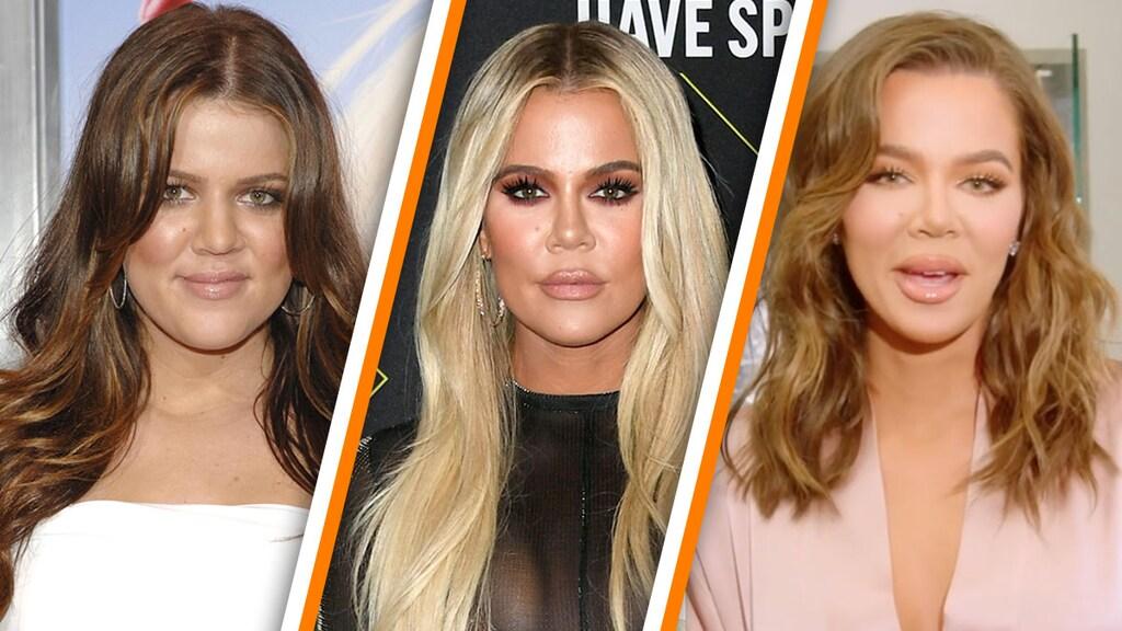 Khloé Kardashian in 2008, 2019 en 2021
