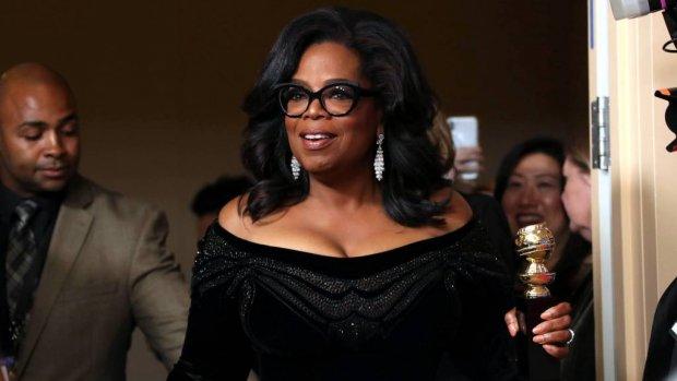 Oprah Winfrey spreekt sterren over Time's Up