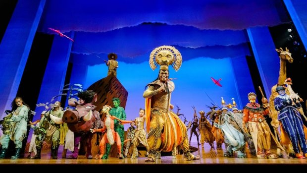 Laatste voorstelling musical The Lion King