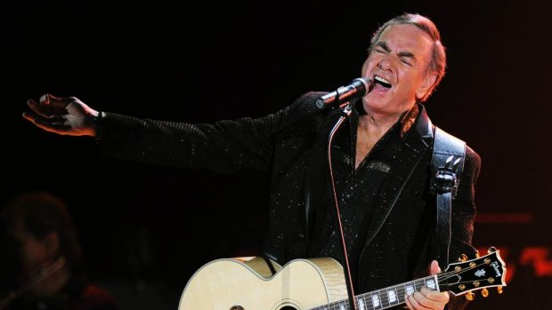 Neil Diamond getroffen door Parkinson