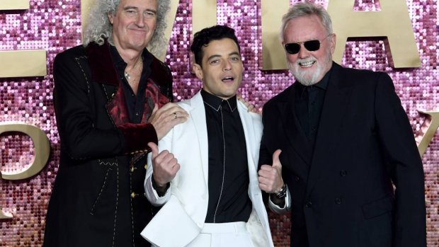 Taylor en May bij première Bohemian Rhapsody
