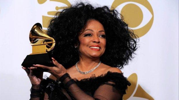 Diana Ross treedt op tijdens Grammy Awards