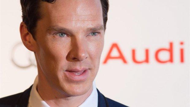 Benedict Cumberbatch houdt rede tegen Britse regering