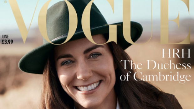 Kate Middleton siert cover van jarige Vogue