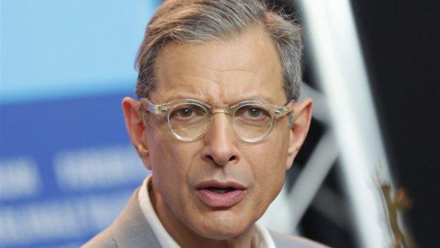 Jeff Goldblum op tijd onder de wol