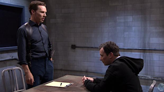 Hilarisch 'verhoor' Benedict Cumberbatch en Jimmy Fallon