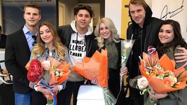 Video: Warm onthaal voor OG3NE op Schiphol