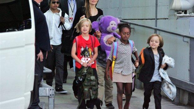 Angelina Jolie oefende Maleficent met kids