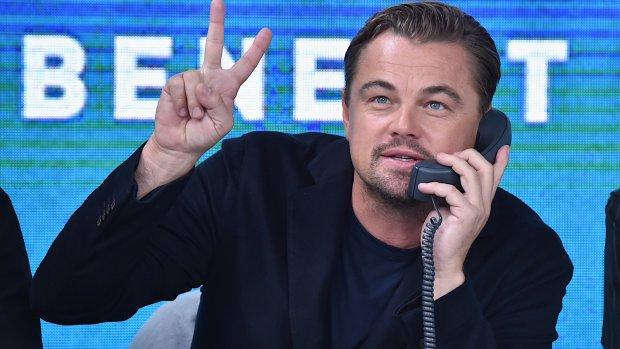 Leonardo DiCaprio gespot in Amsterdam