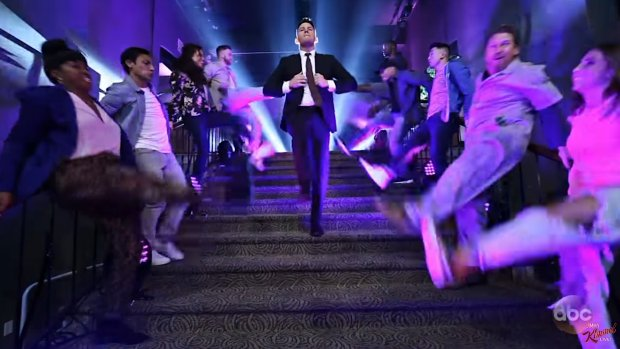 Spectaculaire opening show Jimmy Kimmel door Channing Tatum