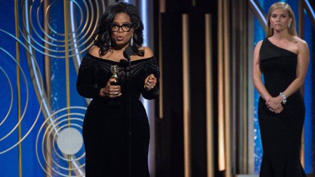 Oprah steelt de show met haar Golden Globes speech