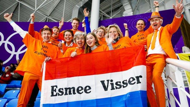 BN'ers juichen voor gouden 5000 meter Esmee Visser