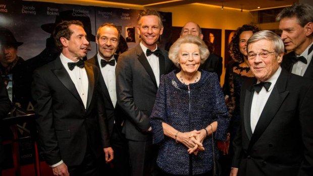 Beatrix bij première Bankier van het Verzet
