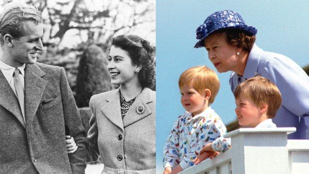 De jarige koningin Elizabeth door de jaren heen