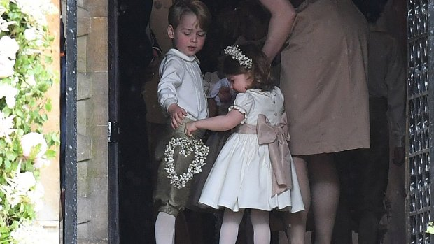 George en Charlotte bruidskindjes bij wedding