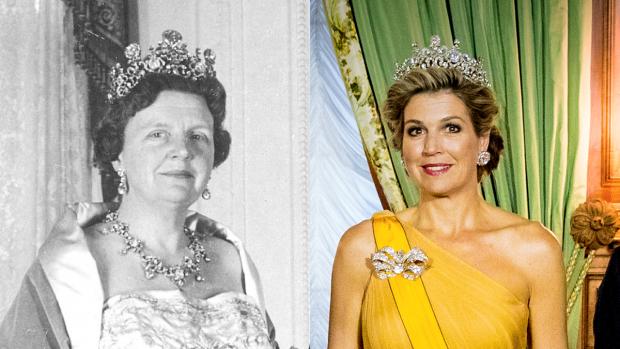 Koningin Máxima gespot met super-diadeem
