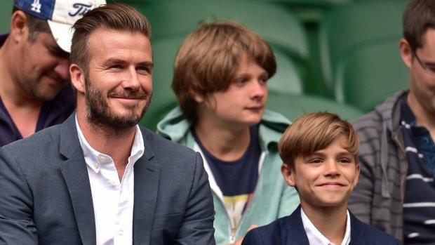 Trotse papa David deelt foto's van Beckham-telgen