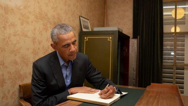 Barack Obama bezoekt Anne Frank Huis