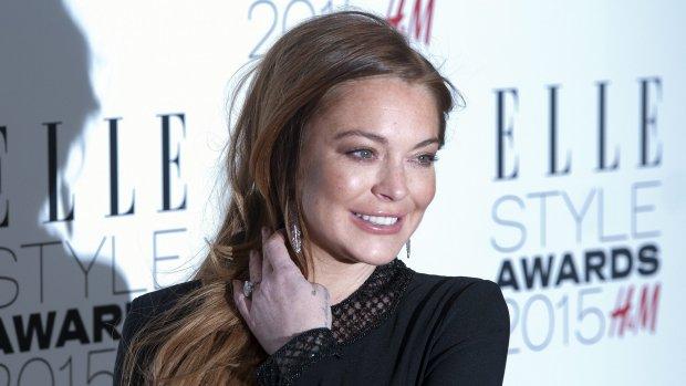 Lindsay Lohan met tien koffers bagage in vliegtuig