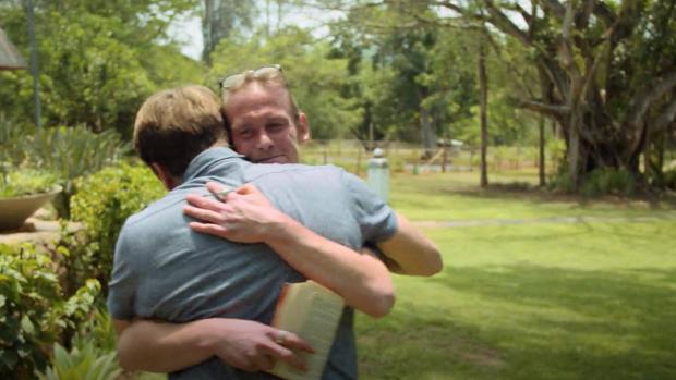 Emotioneel weerzien tussen Beau en Patrick