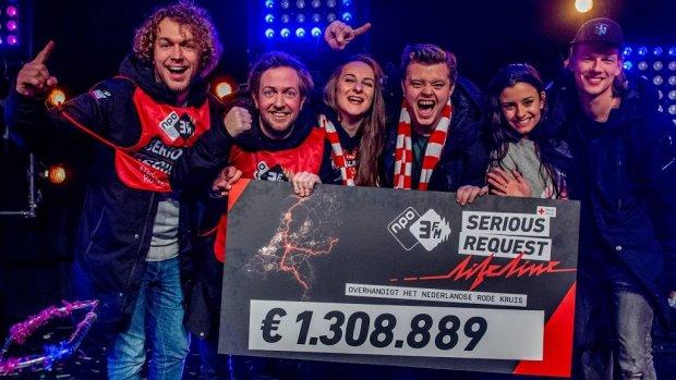 3FM Serious Request goed voor 1,3 miljoen euro