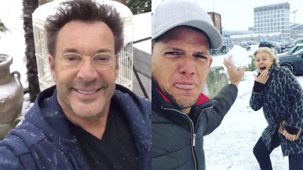 Sneeuwpret! BN'ers genieten van het witte wonderland