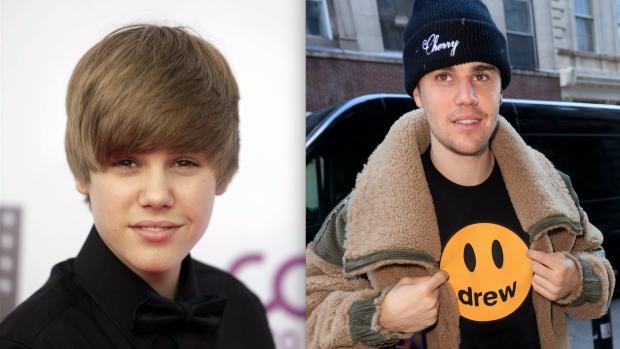 Throwback: De transformatie van jarige job Justin Bieber