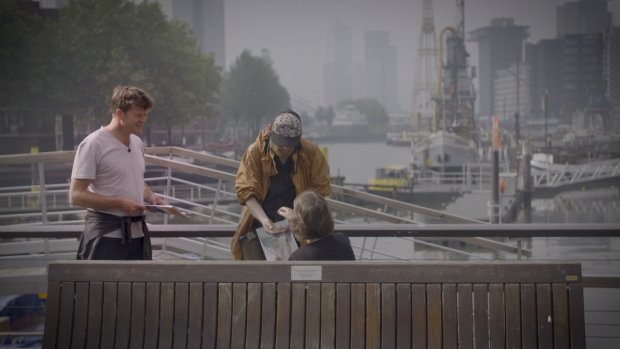 Dakloze Patrick aan de slag voor Hogeschool Rotterdam