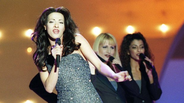 Diva-zangeres Dana International in songfestivalfinale