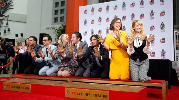 Tegel in Hollywood voor cast The Big Bang Theory