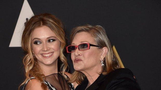 Carrie Fisher en dochter nog één keer samen in Star Wars