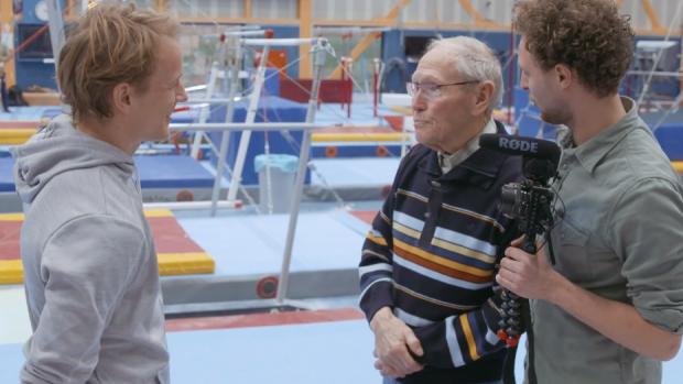 Lief: Opa van Tim ontmoet zijn grote held Epke Zonderland