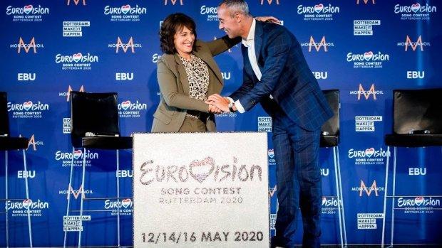 Rotterdam krijgt speciale songfestival-tegel
