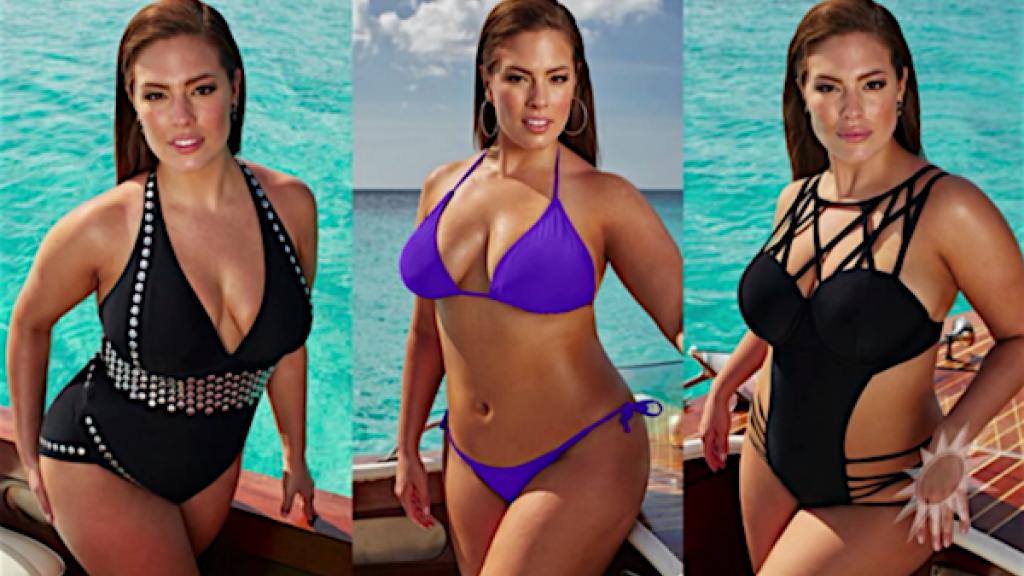Plus-size model Ashley Graham lanceert bikinilijn