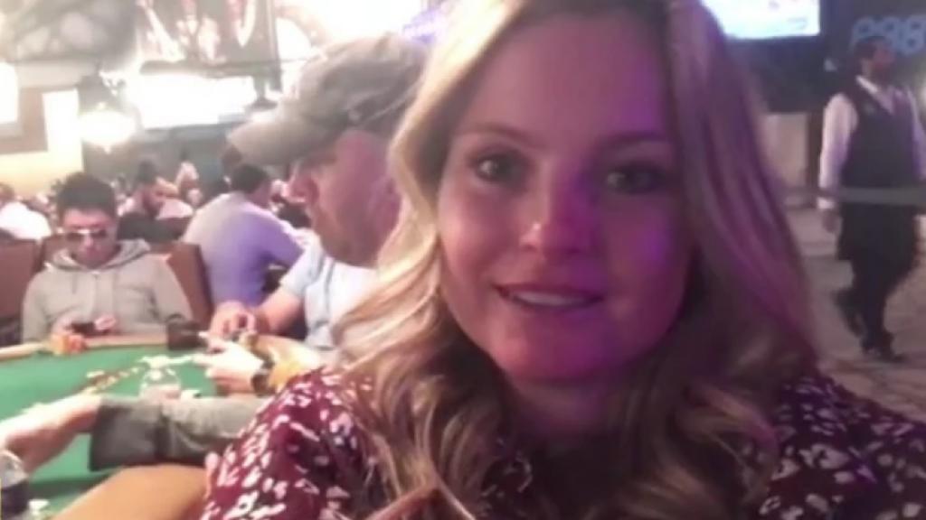 Fatima druk aan het pokeren in Las Vegas