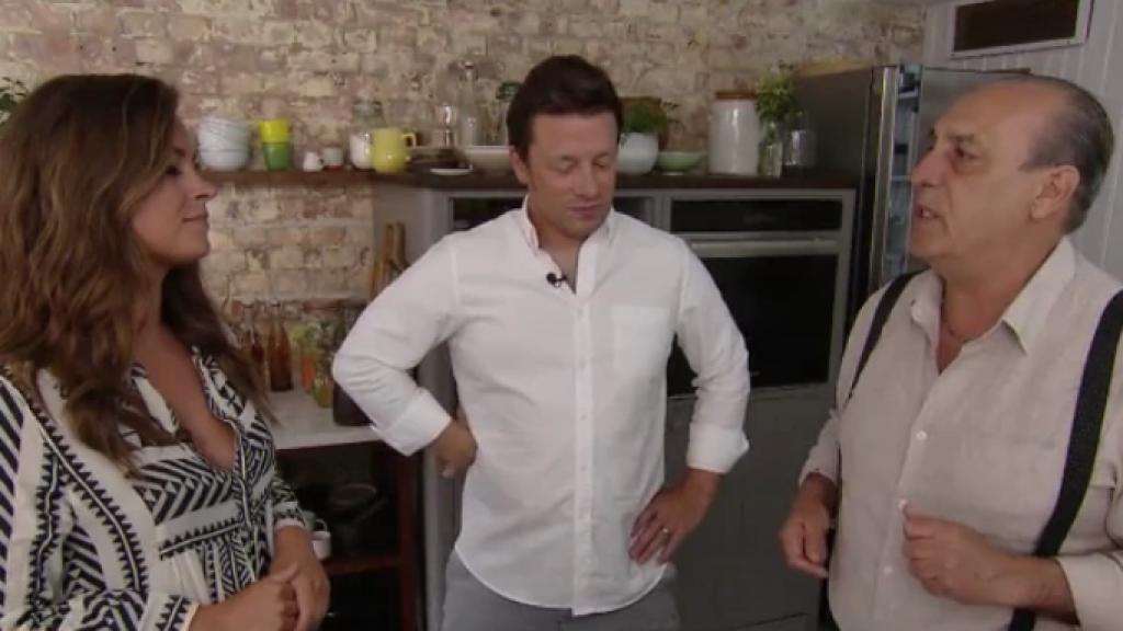 Miljuschka ging langs bij haar grote held Jamie Oliver