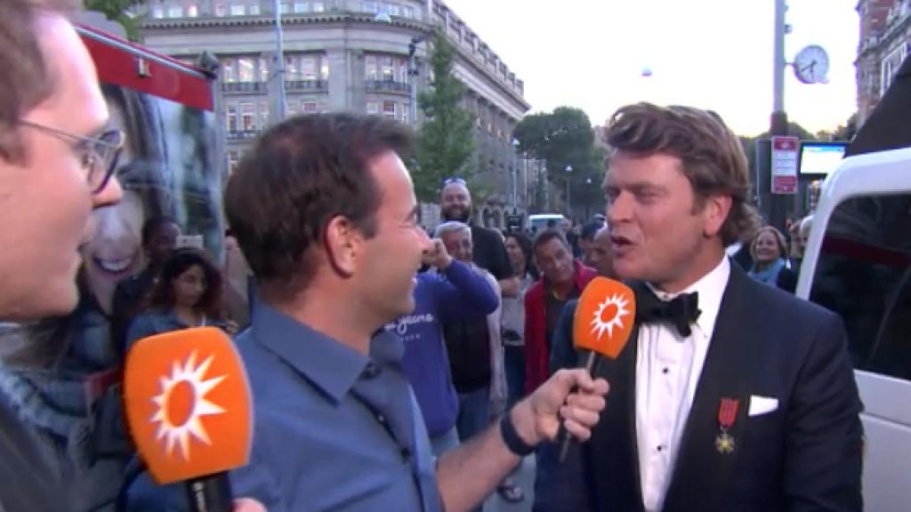 Beau in limo bij RTL Boulevard voor Televizierspektakel losbarst