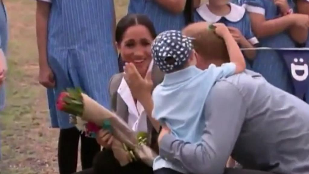 Cute: prins Harry verrast door 5-jarige