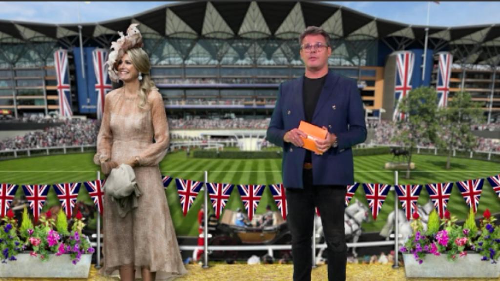 Koning Willem-Alexander en Máxima shinen bij de paardenraces