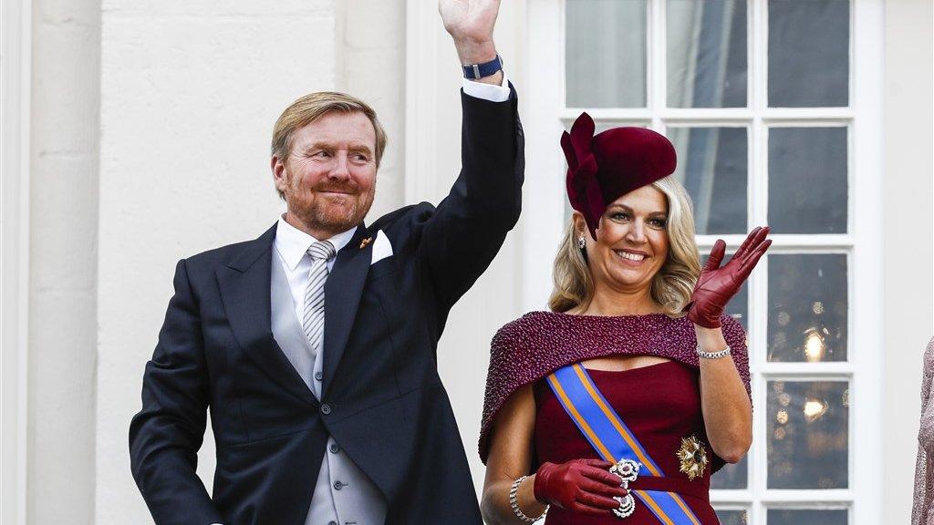 Willem-Alexander en Máxima stralen op Prinsjesdag