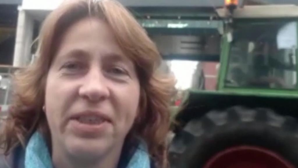Ook boerin Bertie zet zich in tijdens het boerenprotest