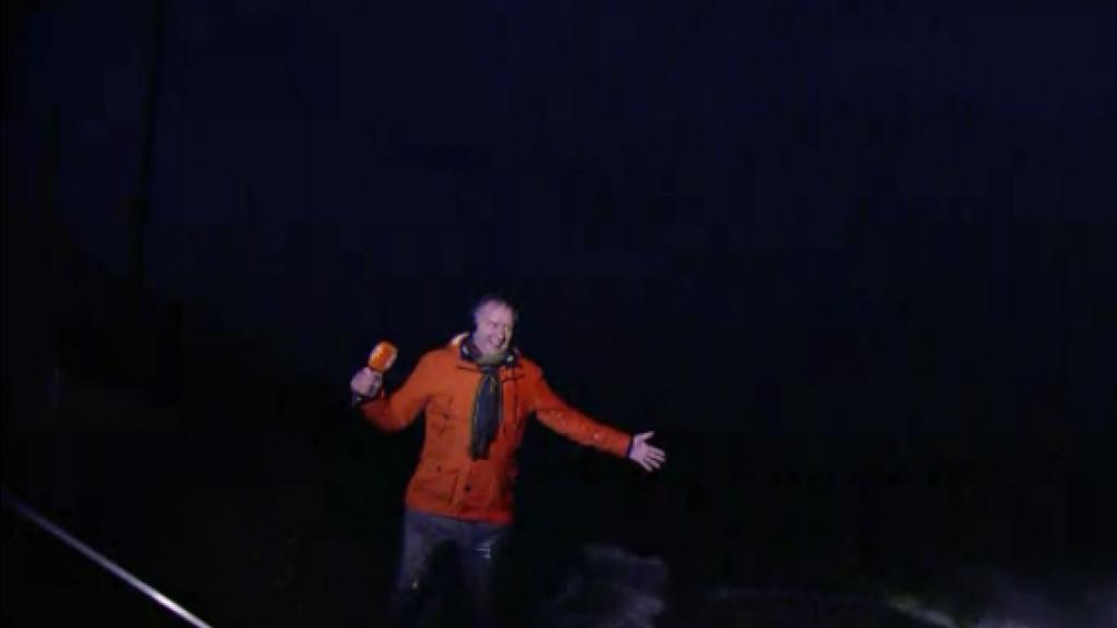 Piet Paulusma overspoeld door storm Ciara