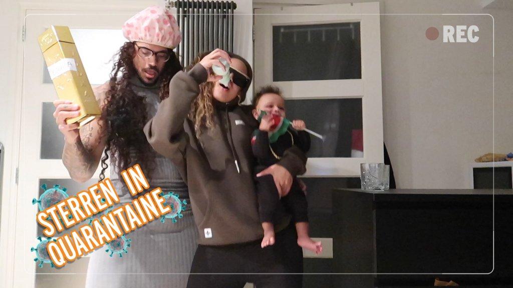 Sterren in Quarantaine: Channah en Quentin houden tequila-party