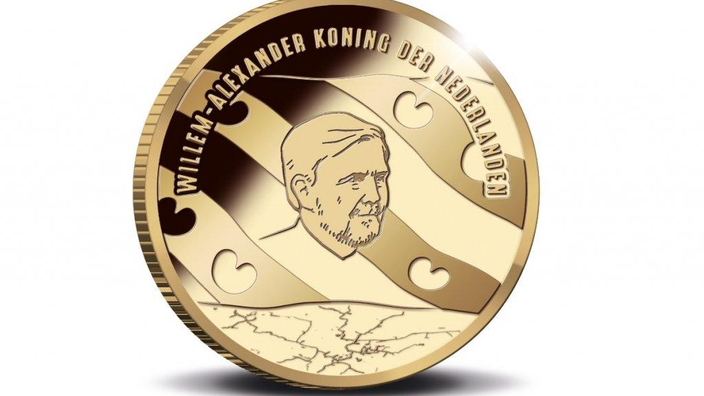 De gouden versie van de munt kost een flinke duit: 479 euro